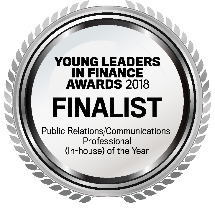 YLIFA 2018 Finalist Public RelationsCommunications Professional (In-house) of the Year