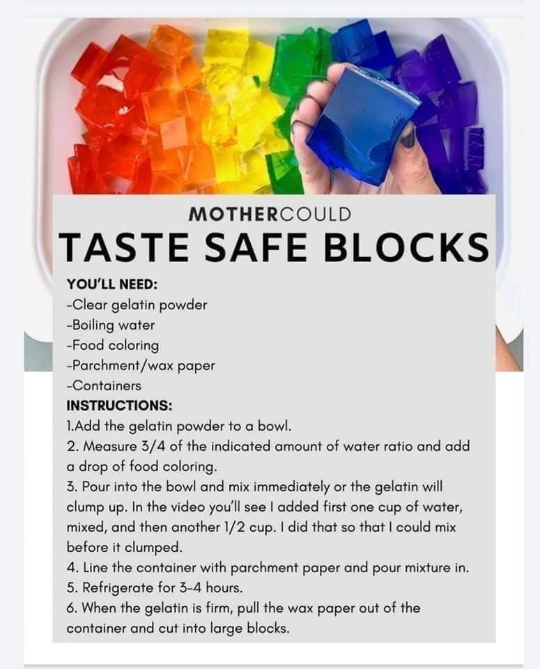 DIY - jelly blocks